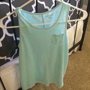Tank top light blue basic cut and style